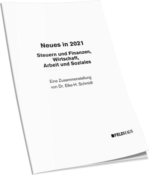 Aktualisierungsbeilage 2021 – Steuern und Finanzen, Wirtschaft, Arbeit und Soziales