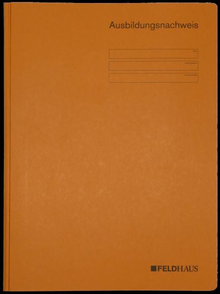 Kartonhefter (ORANGE) für Ausbildungsnachweise