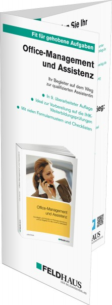 Office-Management und Assistenz, Flyer zum Buch