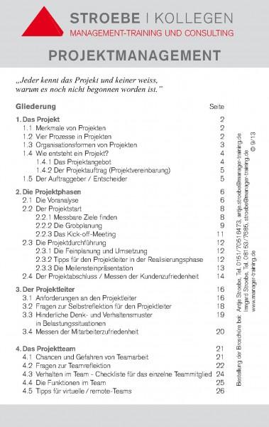 Broschüre »Projektmanagement«