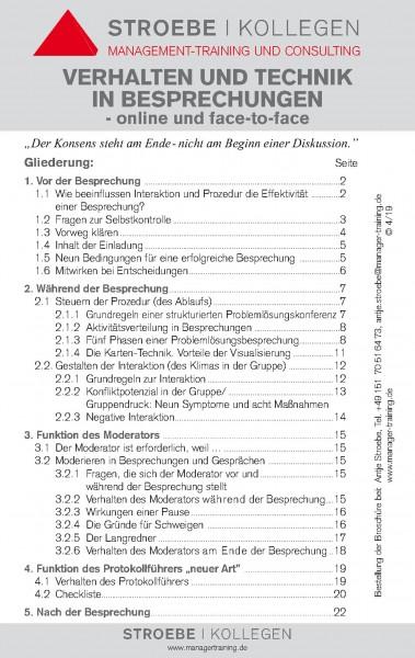 Broschüre »Verhalten und Technik in Besprechungen«